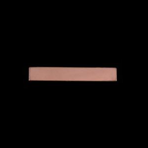 "Metal Stamping Blanks Rose Gold Filled 1.20"" Rectangle, 24g"