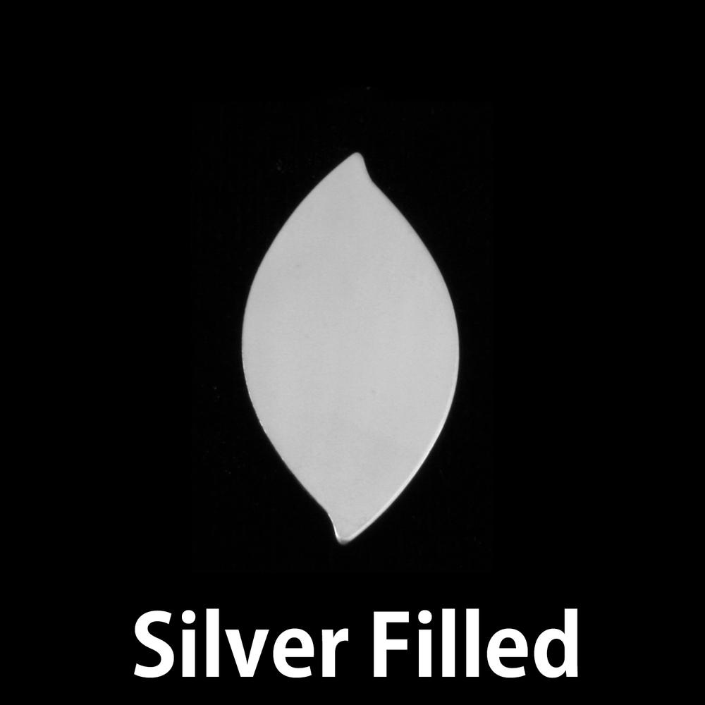 Metal Stamping Blanks Silver Filled Leaf, 24g