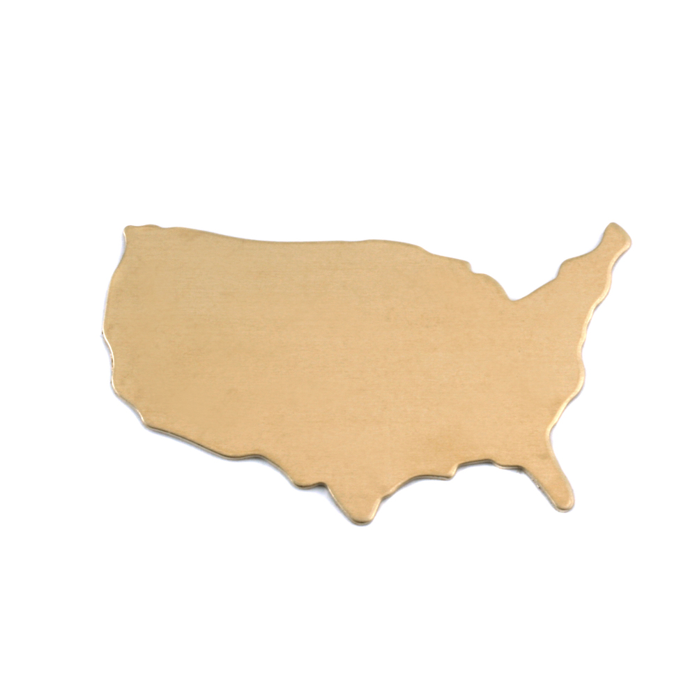 Metal Stamping Blanks Brass United States Blank, 24g