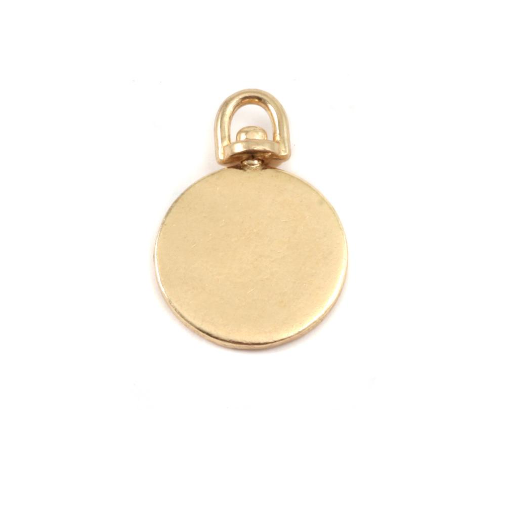 Metal Stamping Blanks Brass Small Circle Swivel Pendant