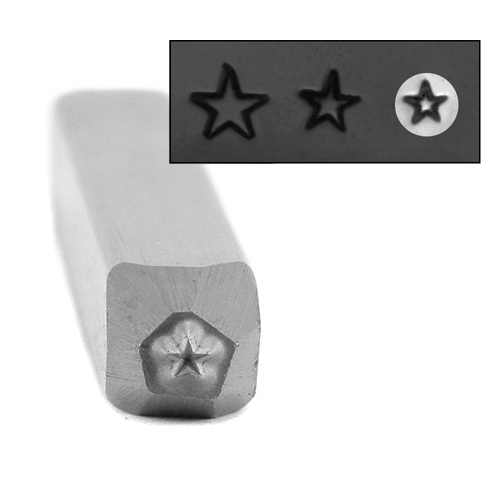 Metal Stamping Tools Star Metal Design Stamp, 1.6mm - Beaducation Original