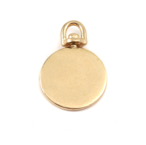 Metal Stamping Blanks Brass Medium Circle Swivel Pendant