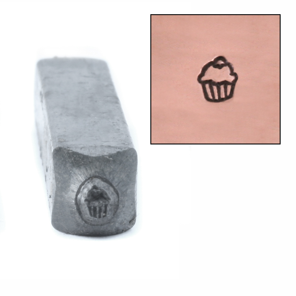Metal Stamping Tools Mini Cupcake Design Stamp