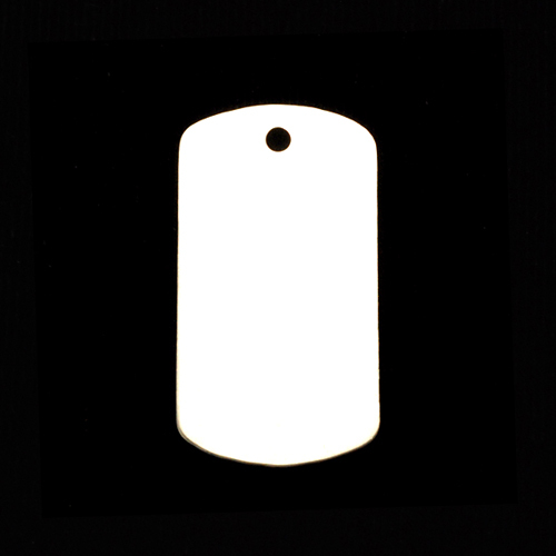 "Metal Stamping Blanks Sterling Silver Medium Dog Tag, 29mm (1.14"") x 16mm (.63""), 20g"