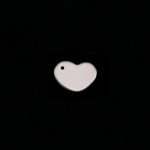 Metal Stamping Blanks Sterling Silver Heart 8.5mm with hole, 24g