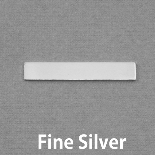 "Metal Stamping Blanks Fine Silver 1.20"" Rectangle, 20g"