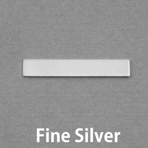 "Metal Stamping Blanks Fine Silver Rectangle Bar, 30.5mm (1.20"") x 5mm (.20""), 20g"
