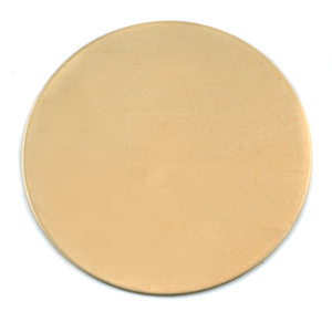 "Metal Stamping Blanks Brass Round, Disc, Circle, 38mm (1.50""), 24g"