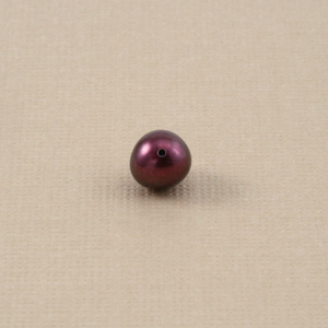 Crystals & Beads Purple Maroon Fresh Water Pearl, 5.5mm