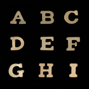 Charms & Solderable Accents Gold Filled Letter B, 24g