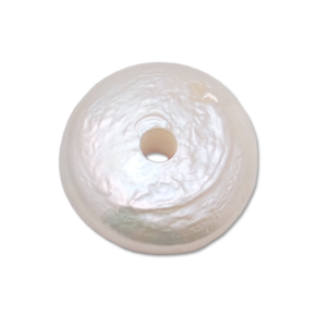 Online Video Classes Pearl with 14 Gauge Hole, White