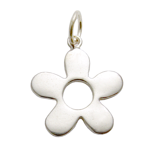Charms & Solderable Accents Sterling Silver Flower Charm