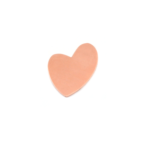 "Metal Stamping Blanks Copper Wacky Heart, 20mm (.80"") x 17mm (.67""), 24g"