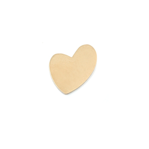 Metal Stamping Blanks Brass Wacky Heart, 24g
