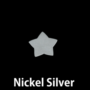 """Metal Stamping Blanks Nickel Silver Rounded Star, 15mm (.60""""), 24g"""