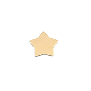 "Metal Stamping Blanks Brass Rounded Star, 15mm (.60""), 24g"