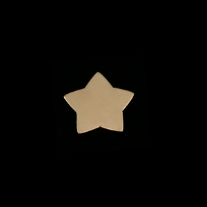 Metal Stamping Blanks Gold Filled Rounded Star, 24g