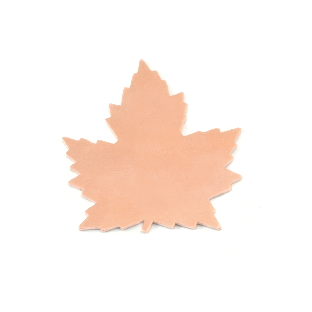 "Metal Stamping Blanks Copper Maple Leaf, 29mm (1.14"") x 27mm (1.06""), 24g, Pack of 5"