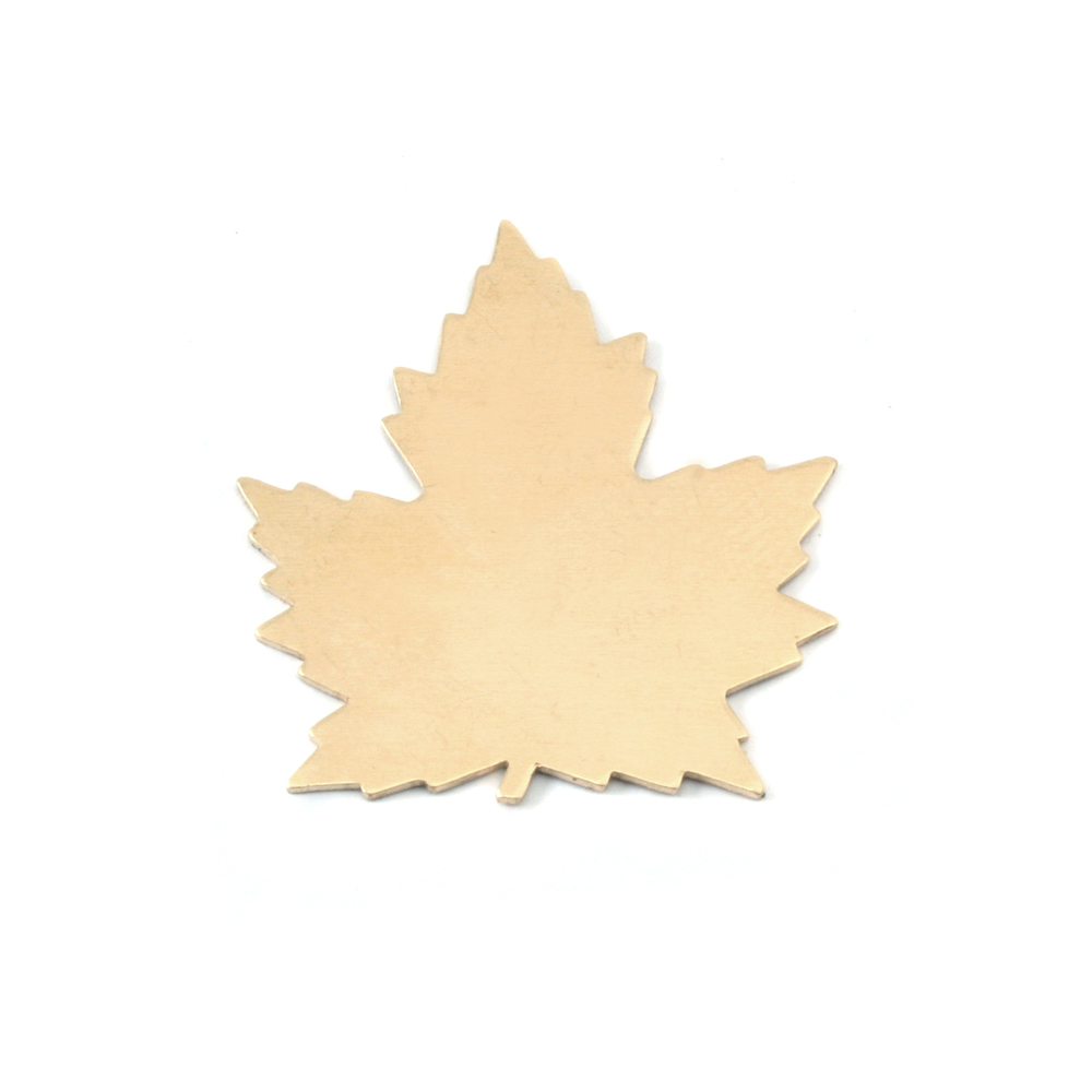Metal Stamping Blanks Brass Maple Leaf, 24g