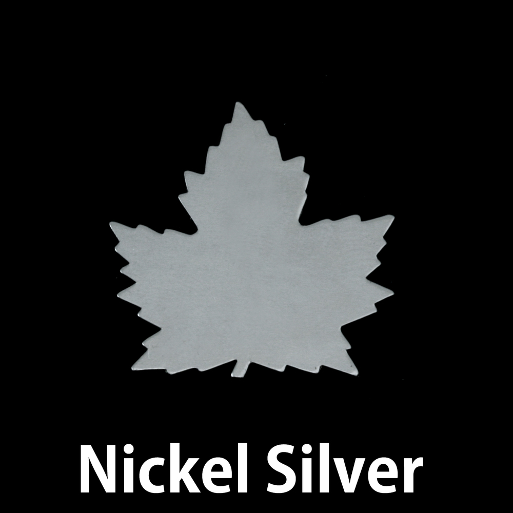 Metal Stamping Blanks Nickel Silver Maple Leaf, 24g