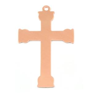 Metal Stamping Blanks Copper Large Fancy Cross, 24g