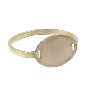 Metal Stamping Blanks Brass Swing Top Oval Bracelet, 16g