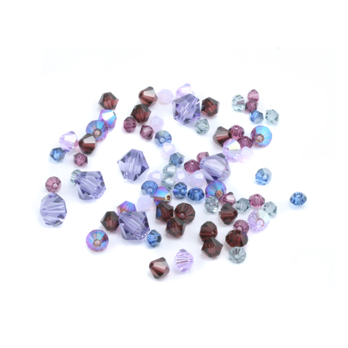 Crystals & Beads Purplicious Crystal Mix