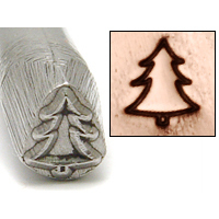 Metal Stamping Tools Simple Evergreen Tree Design Stamp