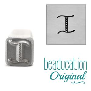 "Metal Stamping Tools Kismet Letter ""I""  7mm - Beaducation Original"