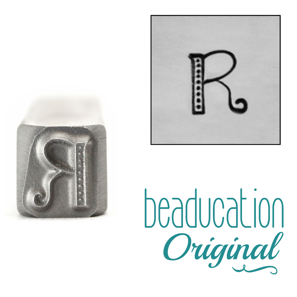 "Metal Stamping Tools Kismet Letter ""R""  7mm - Beaducation Original"