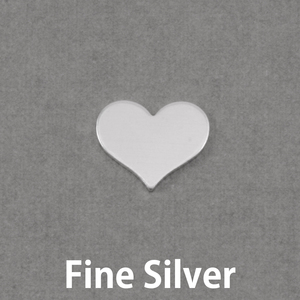 Metal Stamping Blanks Fine Silver Small Classic Heart, 20g
