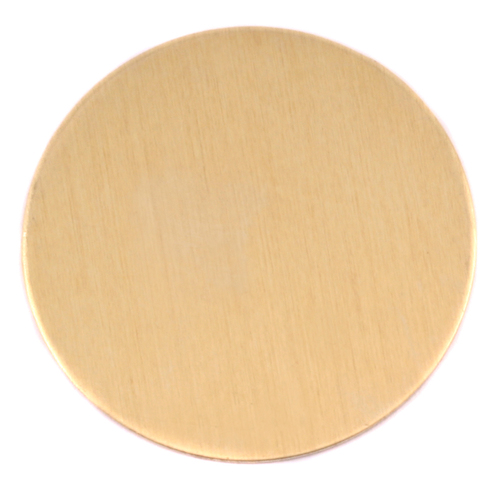 "Metal Stamping Blanks Brass 1 7/8"" (47.63mm) Circle, 24g"