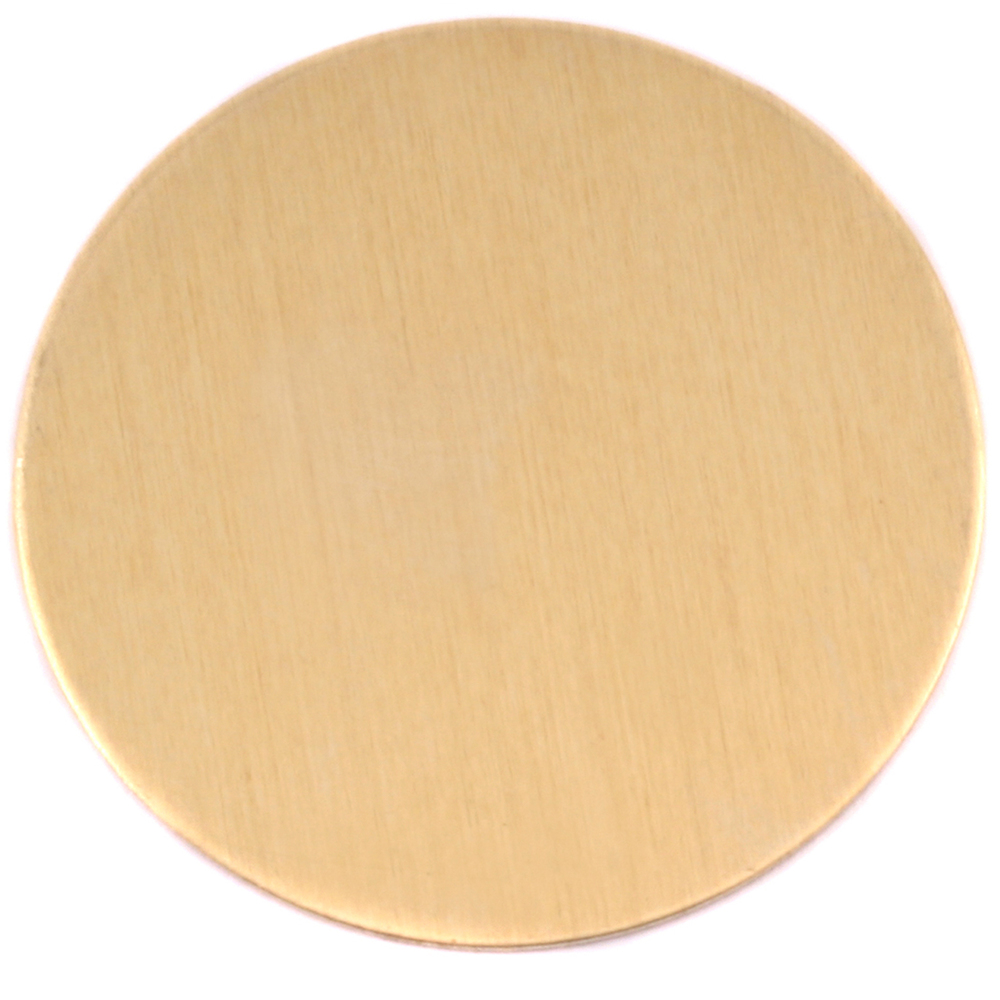 "Metal Stamping Blanks Brass Round, Disc, Circle, 48.5mm (1.91""), 24g, Pack of 2"