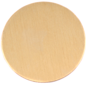 "Metal Stamping Blanks Brass 2"" (50.8mm) Circle, 24g"