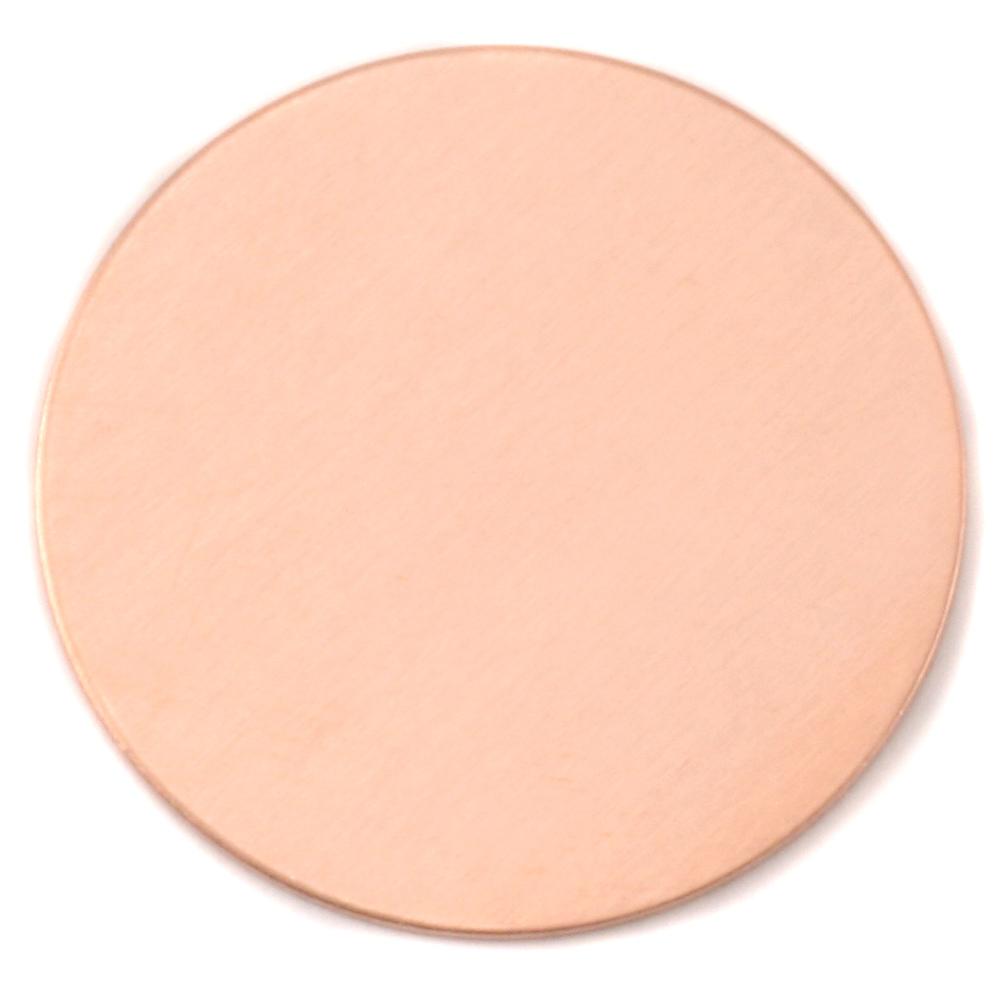 "Metal Stamping Blanks Copper 1 7/8"" (47.63mm) Circle, 24g"