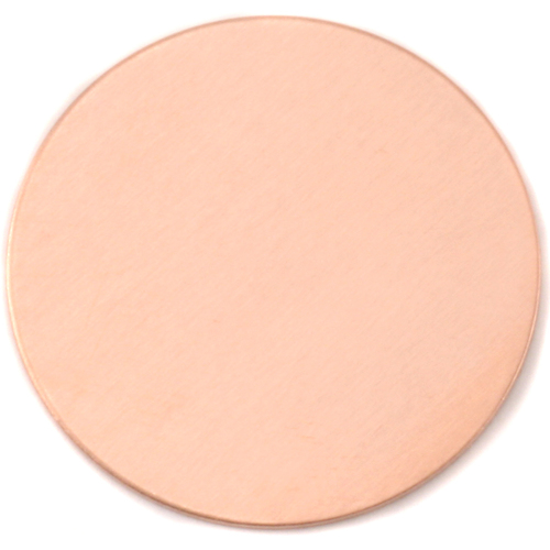 "Metal Stamping Blanks Copper 2"" (50.8mm) Circle, 24g"