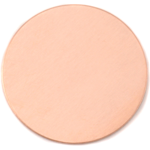 "Metal Stamping Blanks Copper Round, Disc, Circle, 48.5mm (1.91""), 24 Gauge"