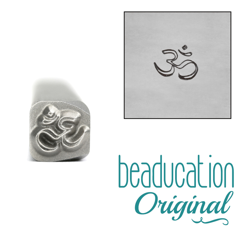 Metal Stamping Tools Om Metal Design Stamp, 5mm - Beaducation Original