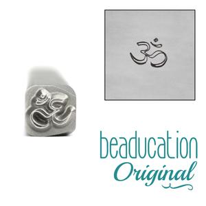 Metal Stamping Tools Om Metal Design Stamp, 5mm - Beaducation Original
