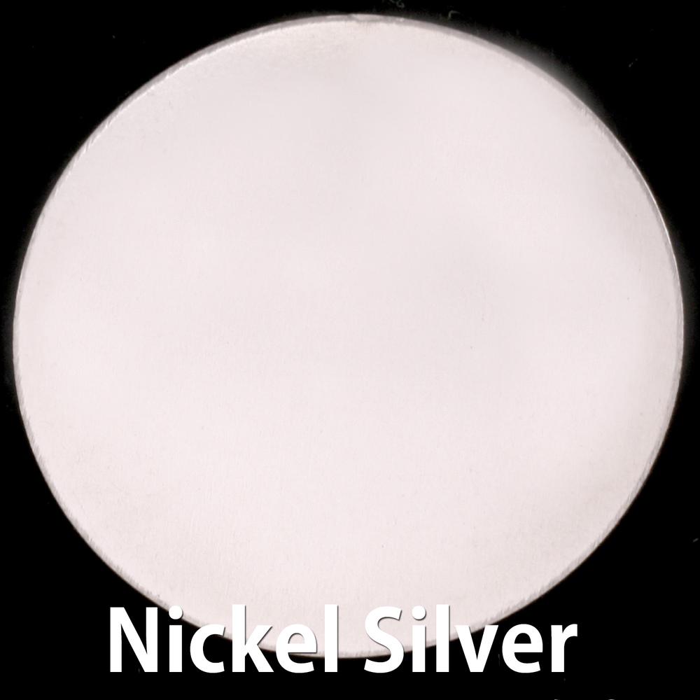 """Metal Stamping Blanks Nickel Silver Circle, 48.5mm (1.91""""), 24g"""