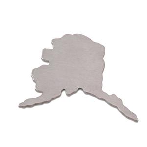 Metal Stamping Blanks Aluminum Alaska State Blank, 18g