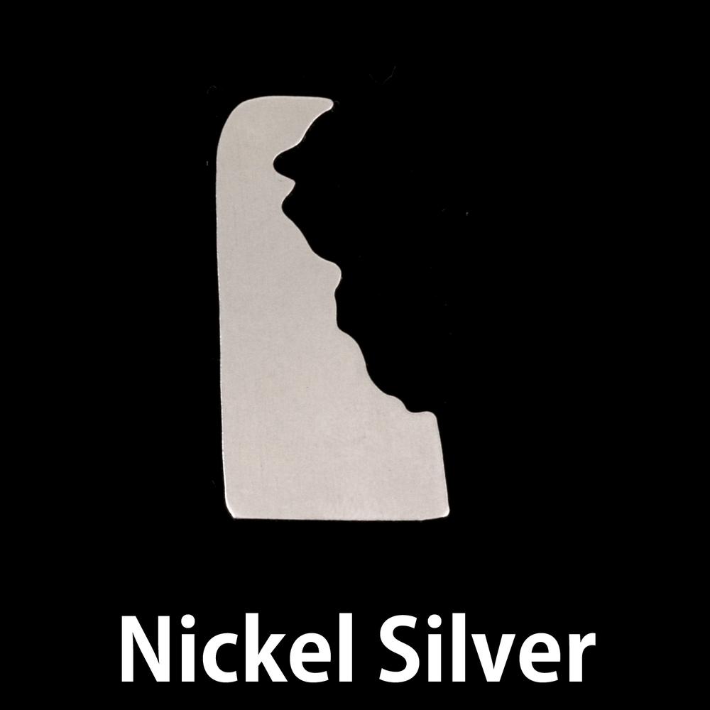 Metal Stamping Blanks Nickel Silver Delaware State Blank, 24g
