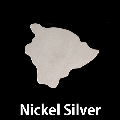 Metal Stamping Blanks Nickel Silver Hawaii (Big Island) State Blank, 24g
