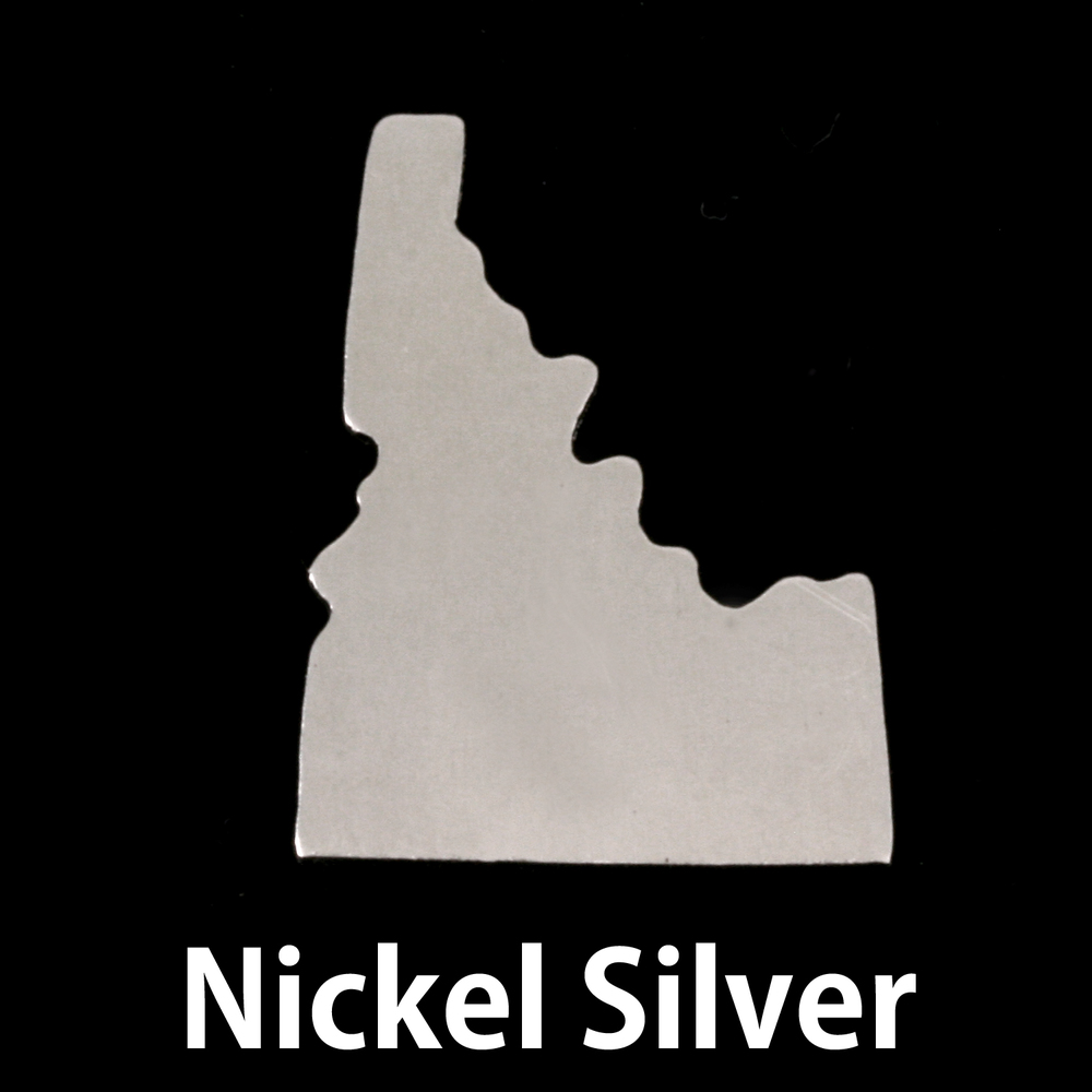 Metal Stamping Blanks Nickel Silver Idaho State Blank, 24g