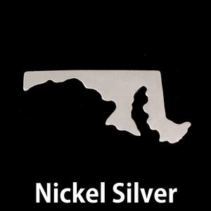Metal Stamping Blanks Nickel Silver Maryland State Blank, 24g