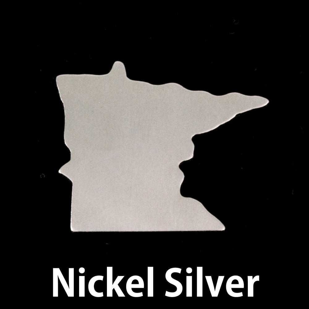 Metal Stamping Blanks Nickel Silver Minnesota State Blank, 24g