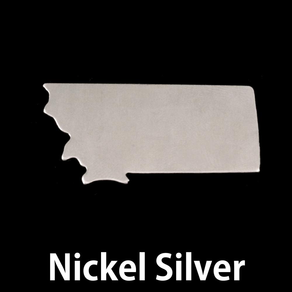 Metal Stamping Blanks Nickel Silver Montana State Blank, 24g