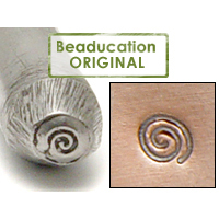 Metal Stamping Tools Tiny Spiral Metal Design Stamp, 2.7mm - Beaducation Original