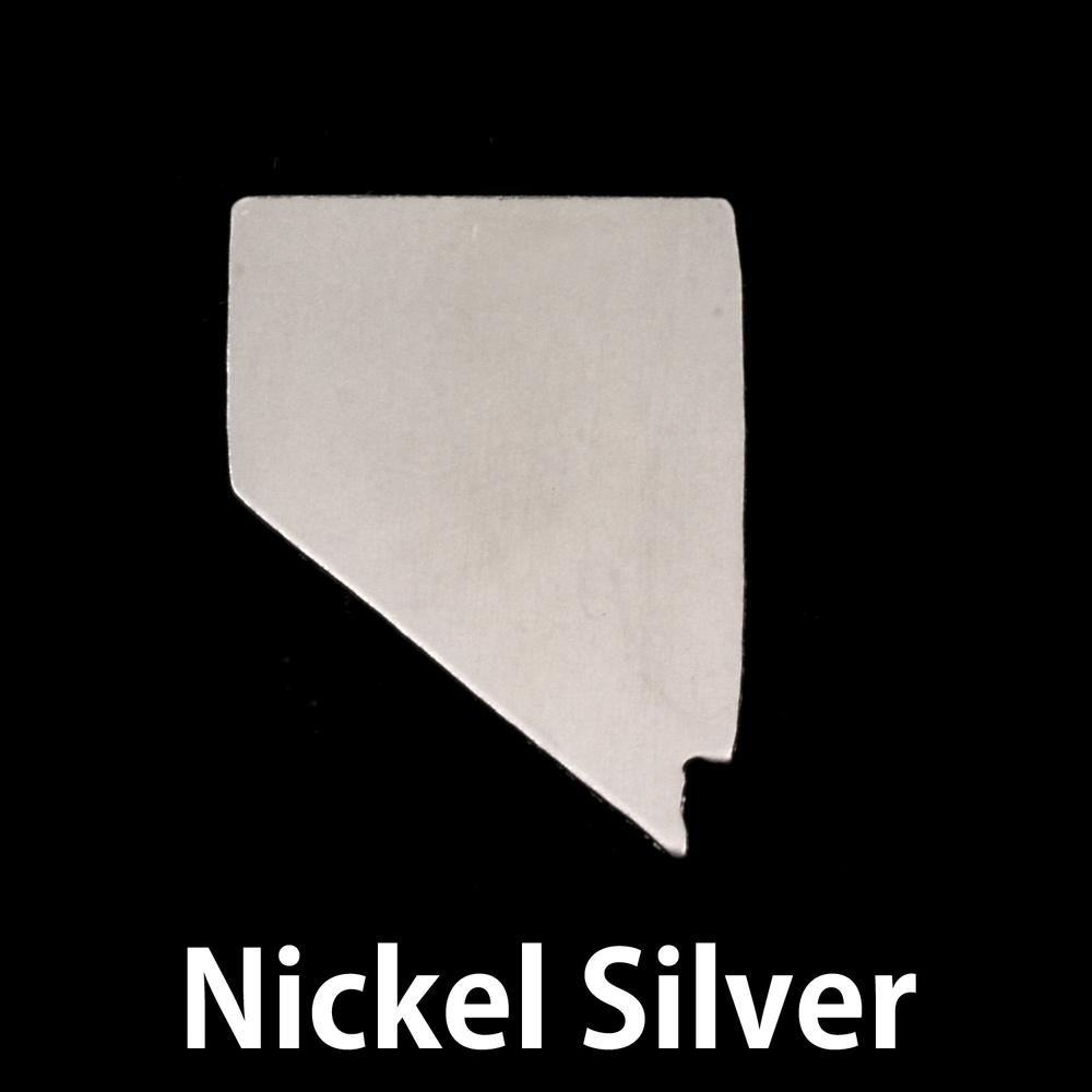 Metal Stamping Blanks Nickel Silver Nevada State Blank, 24g