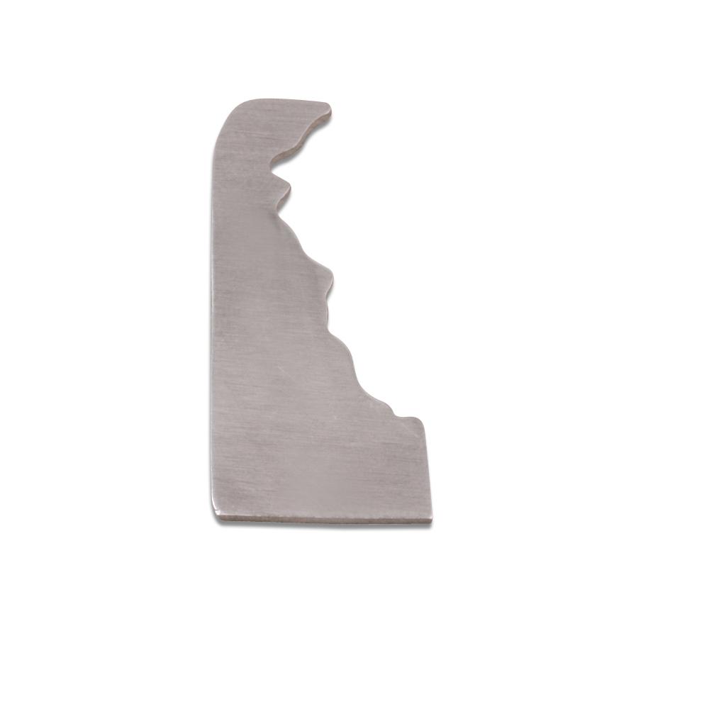 Metal Stamping Blanks Aluminum Delaware State Blank, 18g